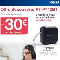 Offre de Remboursement Brother : Jusqu'à 30€ Remboursés sur Etiqueteuse P-touch