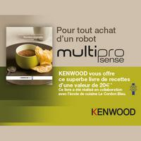 Bon Plan Kenwood : 1 Livre de Recettes Offert