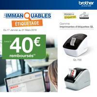 Offre de Remboursement Brother : Jusqu'à 40€ Remboursés sur Etiqueteuse QL