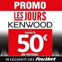 Offre de Remboursement Kenwood / Feu Vert : Jusqu'à 50€ Remboursés sur Autoradio