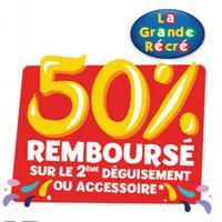 Offre de Remboursement Rubie's / La Grande Récré : 50% sur le 2ème Déguisement Carnaval