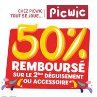 Offre de Remboursement Rubie's / PicWic : 50% sur le 2ème Déguisement Carnaval