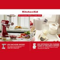 Bon Plan KitchenAid : Hâchoir en Métal OU Tamis et Balance Offerts