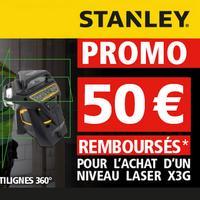 Offre de Remboursement Stanley Pro : 50€ Remboursés sur Niveau Laser Vert X3G