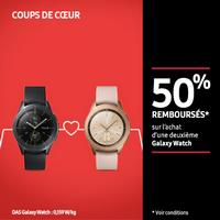 Offre de Remboursement Samsung : 50% Remboursés sur 2ème Galaxy Watch