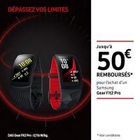 Offre de Remboursement Samsung : Jusqu'à 50€ Remboursés sur Gear Fit2 Pro