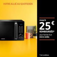 Offre de Remboursement Samsung : Jusqu'à 25€ Remboursés sur Four Micro-Ondes