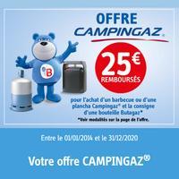 Offre de Remboursement Butagaz : 25€ Remboursés sur Barbecue ou Plancha Campingaz® + Bouteille de gaz