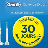 Offre d'Essai Oral-B : Brosse à Dents Electrique Satisfait ou 100% Remboursé