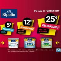 Offre de Remboursement Ripolin / Bricorama : Jusqu'à 25€ Remboursés sur Peinture Blanche