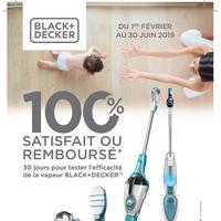 Offre d'Essai Black+Decker : Balai Vapeur Satisfait ou 100% Remboursé