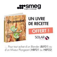 Bon Plan Smeg : Livre de Recette Solar Offert
