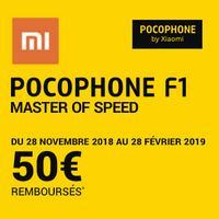 Offre de Remboursement Xiaomi : 50€ Remboursés sur Smartphone Pocophone F1