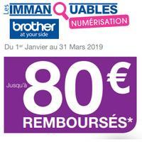 Offre de Remboursement Brother : Jusqu'à 80€ Remboursés sur Scanner