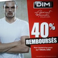 Offre de Remboursement Dim : 40% Remboursés sur Pack T-Shirt Ecodim et X-Temp