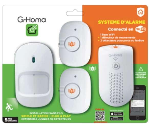 14.99€ l'alarme Connectée en wifi (3 capteurs )