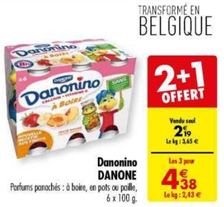 Bon Plan Danonino chez Carrefour (26/02 - 11/03) - anti-crise.fr