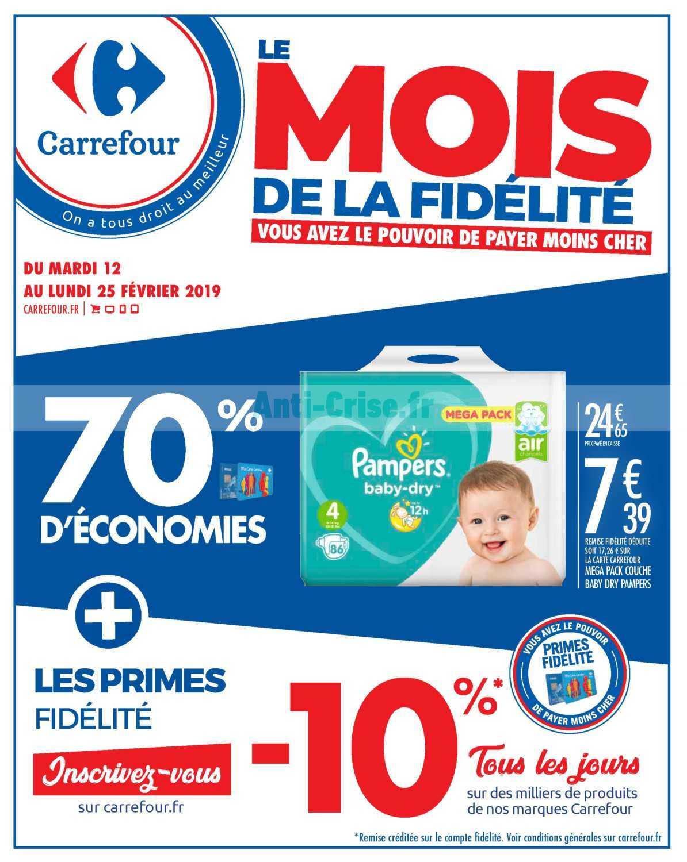 Catalogue Carrefour du 12 au 25 février 2019 (Mois Fidélité)