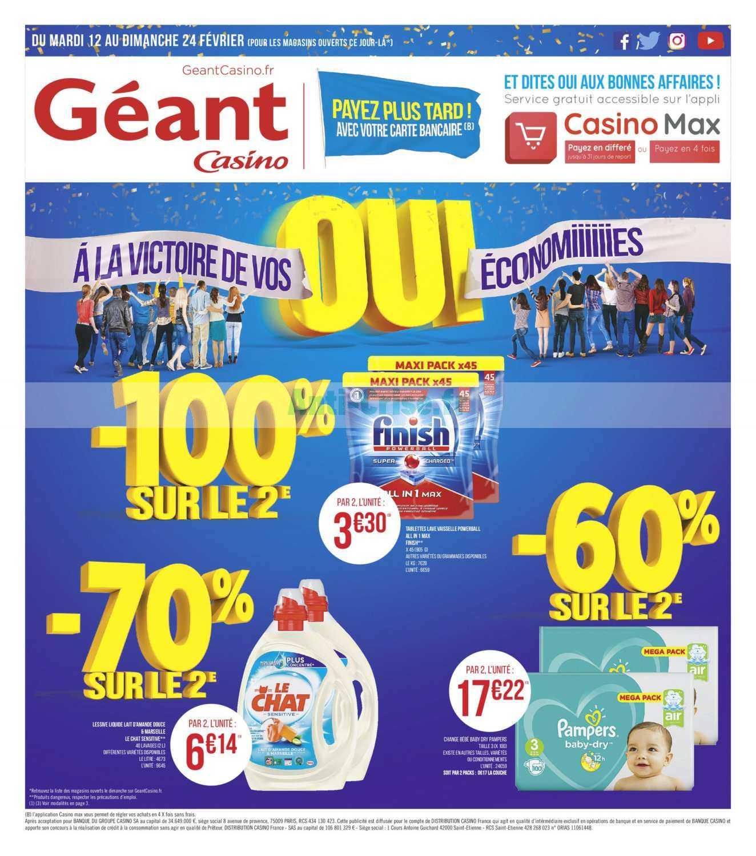 Catalogue Géant Casino du 12 au 24 février 2019
