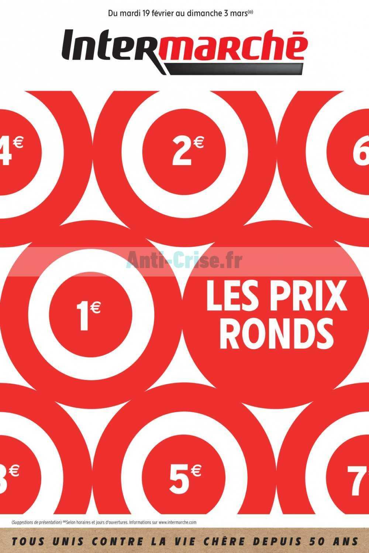 Catalogue Intermarché du 19 février au 03 mars 2019 (Prix Ronds)