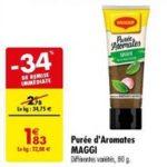Bon Plan Purée d'Aromates Maggi chez Carrefour (26/02 - 11/03) - anti-crise.Fr