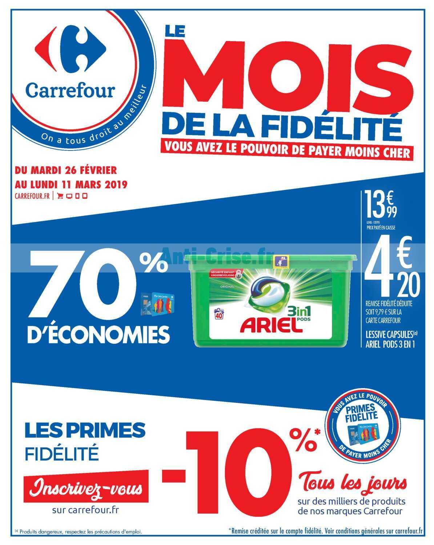 Catalogue Carrefour du 26 février au 11 mars 2019 (Le Mois de la Fidélité)