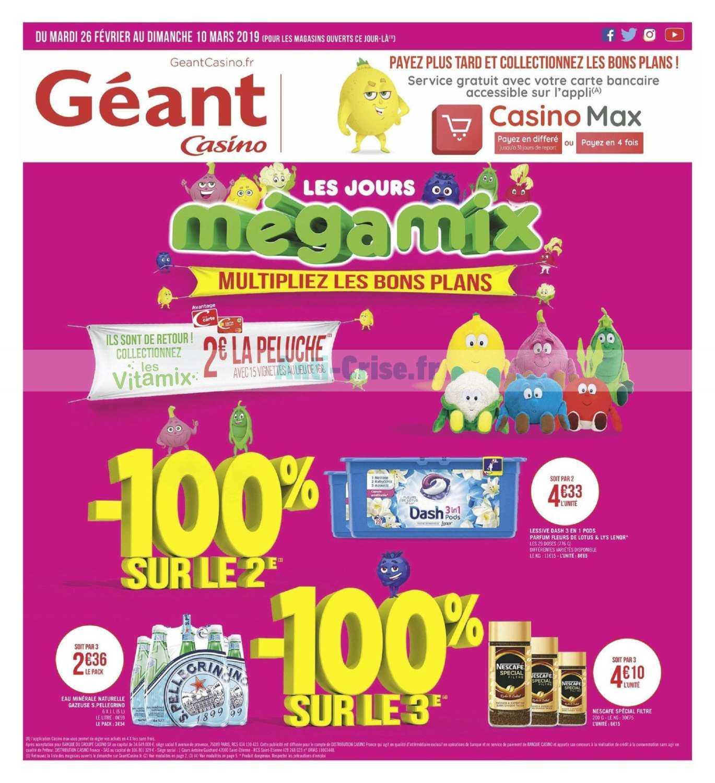 Catalogue Géant Casino du 26 février au 10 mars 2019