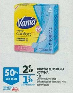 Bon Plan Protège-Slips Kotydia Vania chez Auchan (06/02 - 12/02) - anti-crise.Fr