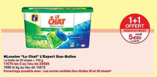 Bon Plan Lessive Le Chat Capsules chez Monoprix - anti-crise.fr
