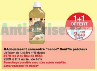 Bon Plan Adoucissant Lenor chez Monoprix - anti-crise.fr