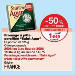 Bon Plan Fromage Saint Agur chez Monoprix - anti-crise.fr