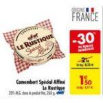 Bon Plan Camembert Spécial Affiné Le Rustique chez Carrefour - anti-crise.fr