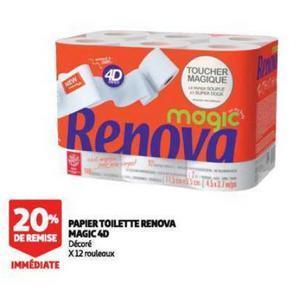 Bon Plan Papier Toilette Renova Magic 4D chez Auchan - anti-crise.fr
