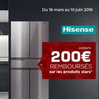 Offre de Remboursement Hisense : Jusqu'à 200€ Remboursés sur Réfrigérateur