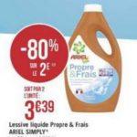 Bon Plan Lessive Liquide Ariel Simply chez Géant Casino - anti-crise.fr