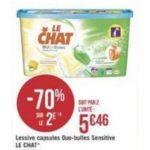 Bon Plan Lessive Le Chat Capsules chez Géant Casino - anti-crise.fr