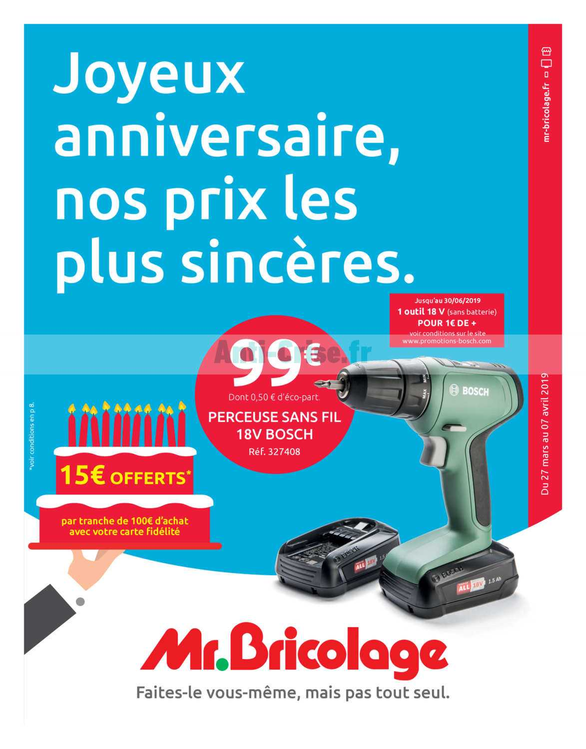 catalogue mr bricolage du 27 mars au 07 avril 2019 catalogues promos bons plans economisez. Black Bedroom Furniture Sets. Home Design Ideas