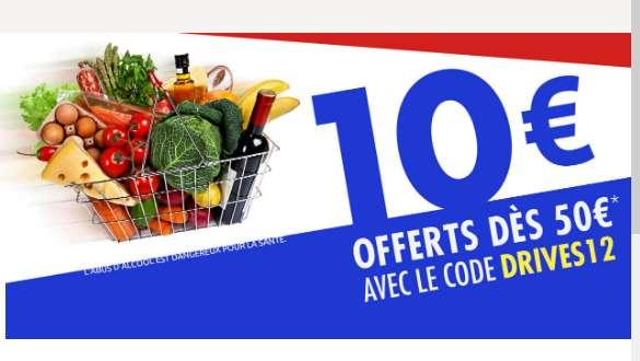 Carrefour Drive: 10€ de réduction pour 50 d'achats