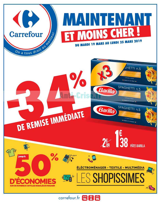 Catalogue Carrefour du 19 au 25 mars 2019