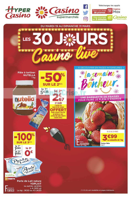 Catalogue Casino du 19 au 31 mars 2019