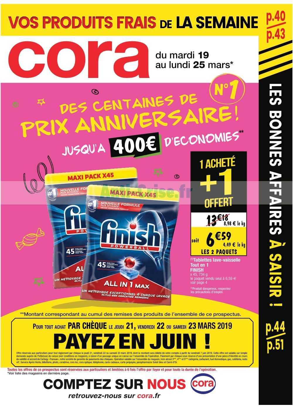 Catalogue Cora du 19 au 25 mars 2019 (Alsace)