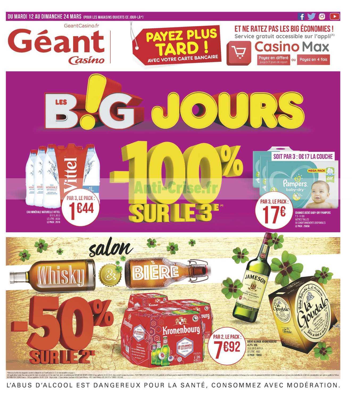 Catalogue Géant Casino du 12 au 24 mars 2019
