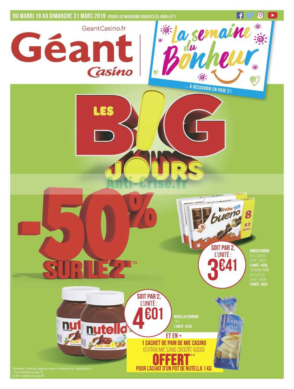 Catalogue Géant Casino du 19 au 31 mars 2019