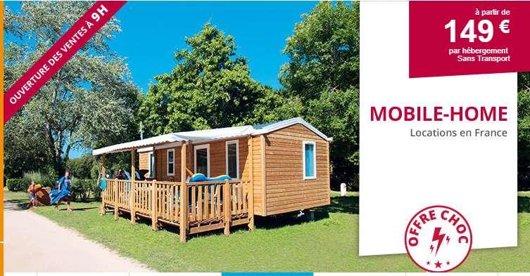 Semaines en Mobile Home à 149€ avec Leclerc Voyage