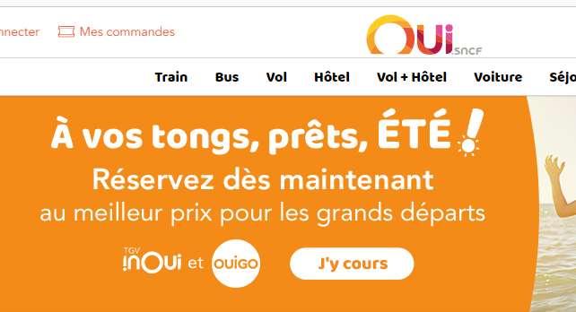 Oui.SNCF : ouvertures des réservations d'été OUIGO , TGV , INTERCITE