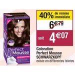 Bon Plan Coloration Perfect Mousse de Schwarzkopf chez Cora (19/03 - 13/04) - anti-crise.Fr
