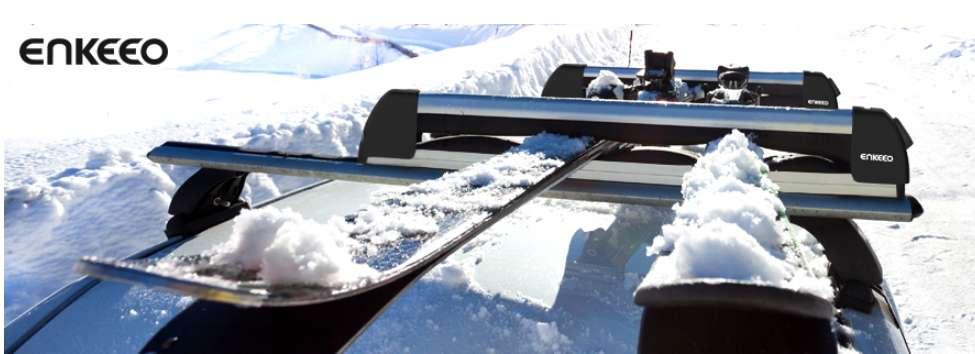 18,9€ le porte skis enkeo en aluminium