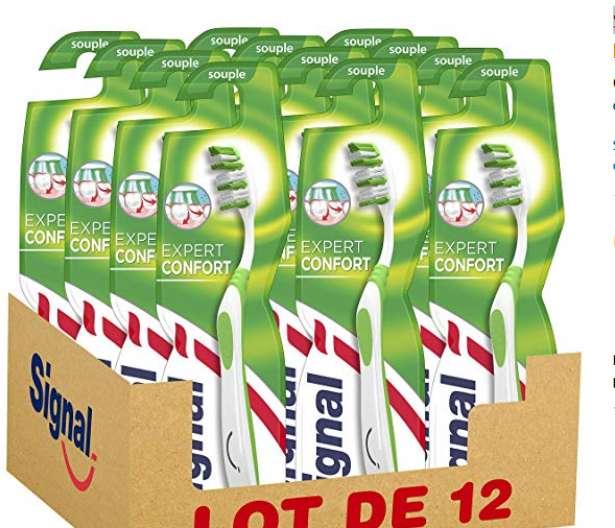 10€ les 12 brosses à dents Signal Expert Confort Souple – Amazon Prime