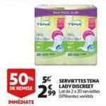 Bon Plan Serviettes Discreet Tena chez Auchan (20/03 - 26/03) -anti-crise.Fr