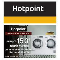 Offre de Remboursement Hotpoint : Jusqu'à 150€ Remboursés sur Lave-Linge et/ou Sèche-Linge